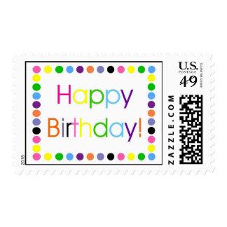 Happy Birthday Multi Color Confetti Letters Postage