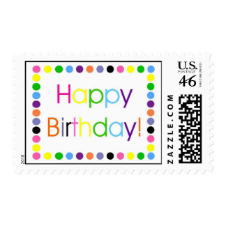 Happy Birthday Multi Color Confetti Letters Stamps
