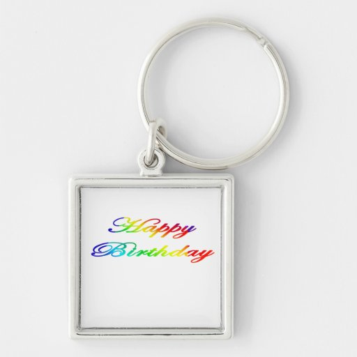 Happy Birthday Multicolor Birthday Keychains