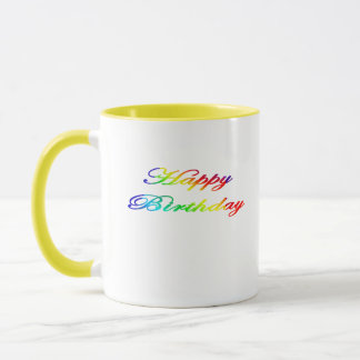 Happy Birthday Multicolor Birthday Mug