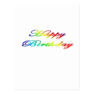 Happy Birthday Multicolor Birthday Postcard