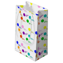Happy Birthday Multicolored Balloons Gift Bag