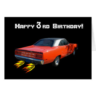 Happy Birthday Muscle Car Greeting Card