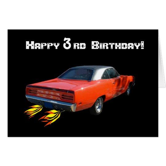 Happy Birthday Muscle Car Greeting Card Zazzle