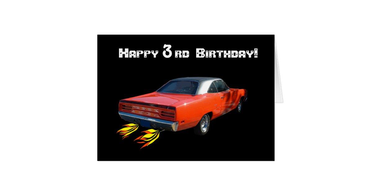 Happy Birthday Muscle Car Greeting Card Zazzle Com