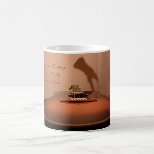 Happy Birthday Music Teacher Coffee Mug