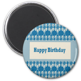 HAPPY Birthday n BLANK easy to add TEXT GREETINGS Refrigerator Magnet
