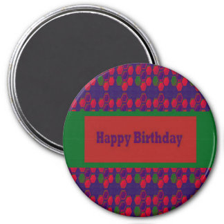 HAPPY Birthday n BLANK easy to add TEXT GREETINGS Magnets