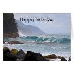Happy Birthday, Na Pali Coast on Kauai Cards