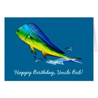 Happy Birthday Name Customizable with Mahi Mahi Card