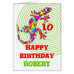 Happy Birthday Name Template Card