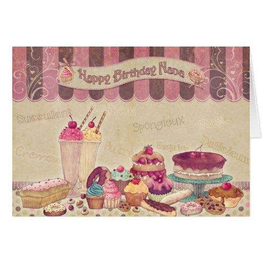 Happy Birthday Nana - Cakes And sweets Card
