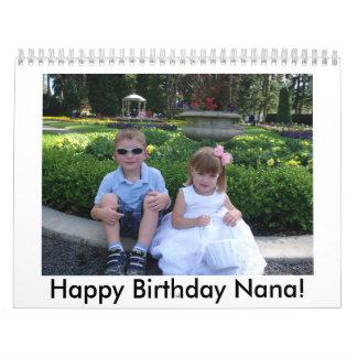 Happy Birthday Nana! Wall Calendar