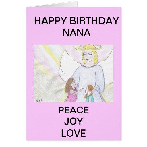HAPPY BIRTHDAY NANA CARD