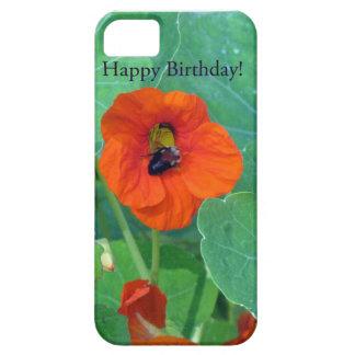 Happy Birthday Nasturtium Bee iPhone 5 Cases