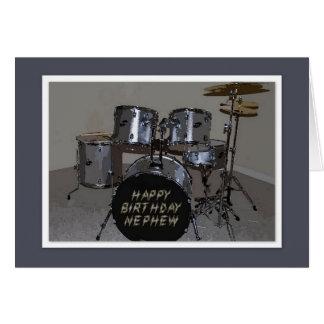 Happy Birthday Nephew Drums Card