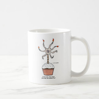 Happy Birthday Neuron Cupcake Coffee Mug