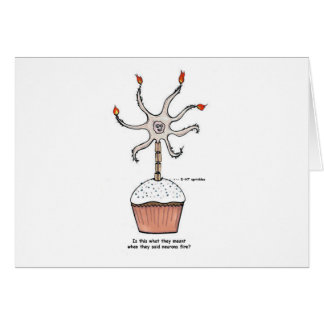 Happy Birthday Neuron Cupcake Greeting Card