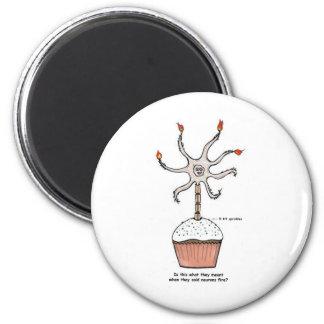 Happy Birthday Neuron Cupcake Magnet