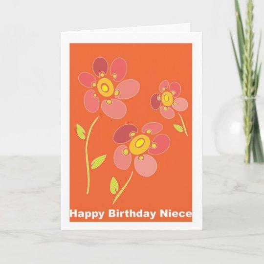 Happy Birthday Niece Card Zazzle Com