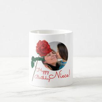 Happy Birthday niece custom photo text mugs