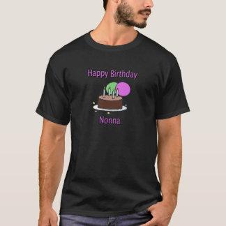 Happy Birthday Nonna Italian Grandma Birthday Desi T-Shirt