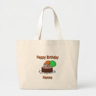 Happy Birthday Nonno Italian Grandpa Birthday Desi Large Tote Bag