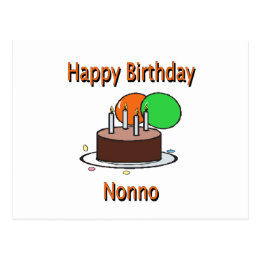 Happy Birthday Nonno Italian Grandpa Birthday Desi Postcard