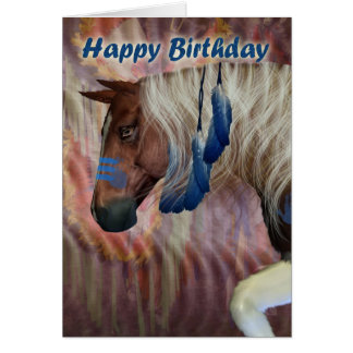 Happy Birthday North American Horse Greeting Cards