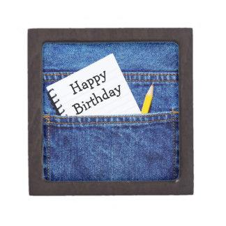 Happy Birthday Notebook in Pocket Jewelry Box
