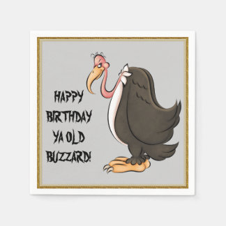 Happy Birthday Old Buzzard paper napkins