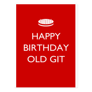 Happy Birthday Old Git Postcard