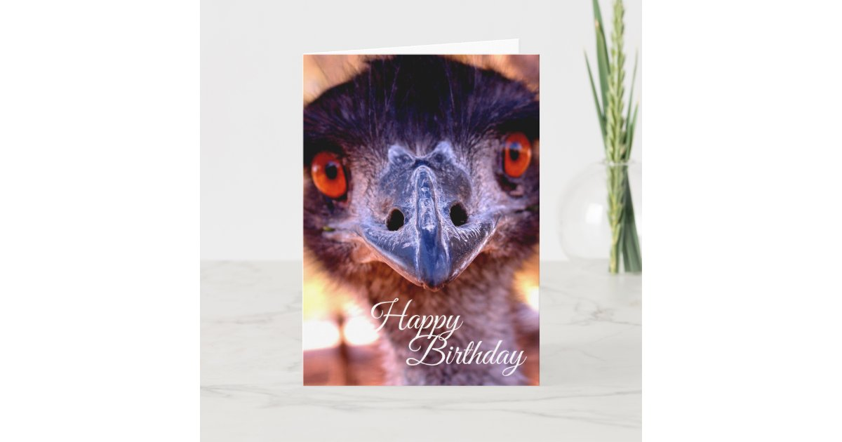 Happy Birthday Old Man Emu Card