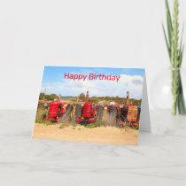 Happy Birthday: old tractors Card