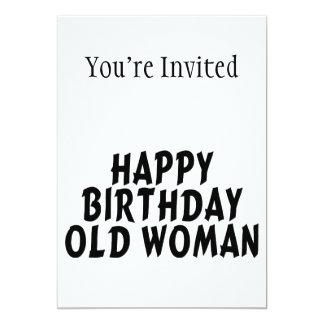 Happy Birthday Old Woman Card