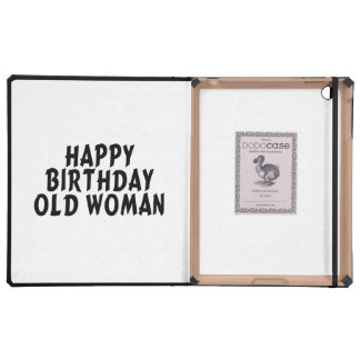 Happy Birthday Old Woman Cover For iPad