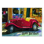 Happy Birthday Oldtimer Car Card
