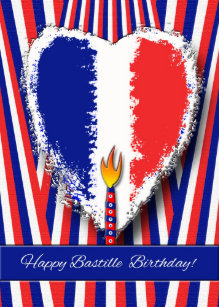 Bastille day gifts on zazzle happy birthday on bastille day greeting card m4hsunfo