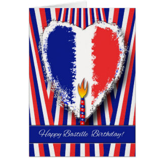 Happy Birthday on Bastille Day Greeting Card