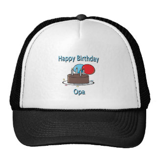 Happy Birthday Opa German Grandpa Birthday Design Trucker Hat