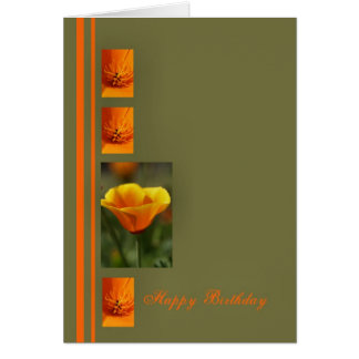 Happy Birthday Orange Cards