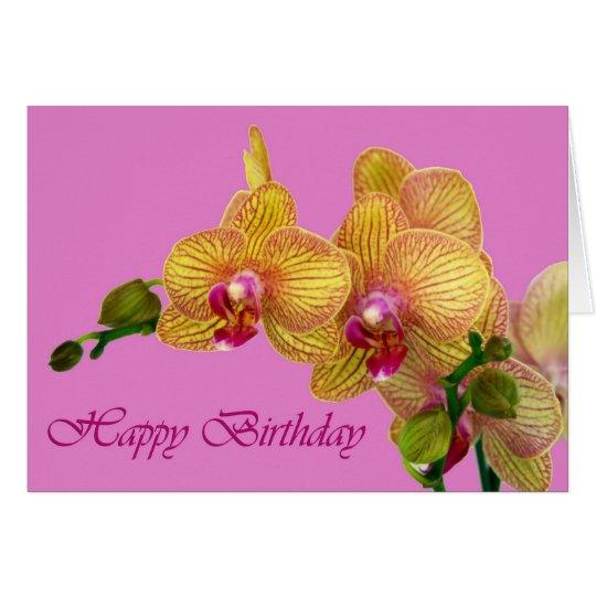 Happy Birthday - Orchid Card