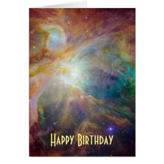 Happy Birthday - Orion Nebula Astronomy Photo Card