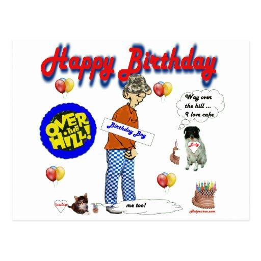 Happy_BirthDay_Over_The_Hill. Tarjeta Postal
