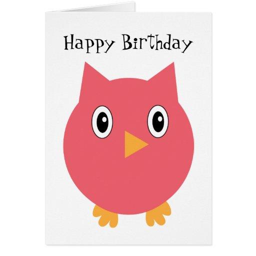 Happy Birthday Owl Hoot Card