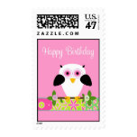 Happy Birthday Owl on a String Postage