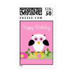 Happy Birthday Owl on a String Postage