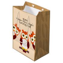 Happy Birthday Owls on Branches Medium Gift Bag