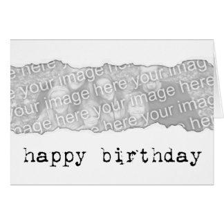 happy birthday (page tear) card