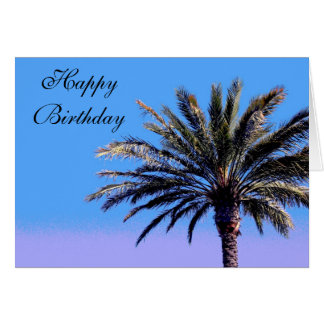 Happy Birthday Palm Tree Greeting Cards